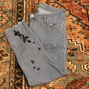 Embroidered Rockstar Skinny Jeans